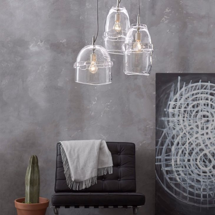 Inspired by pure a collection of one of a kind glass objects from simon pearce our middlebury pendants are marked by organic lines and a substantial wrap