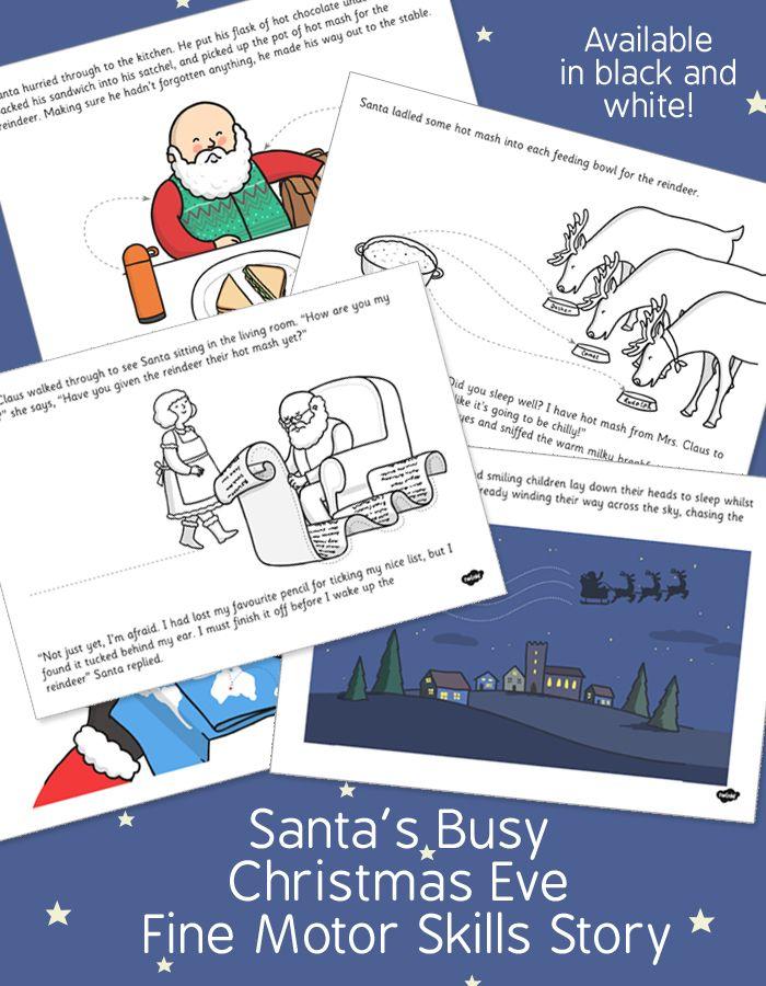 Santas busy christmas eve fine motor skills story twinkl fun santas busy christmas eve fine motor skills story twinkl spiritdancerdesigns Choice Image