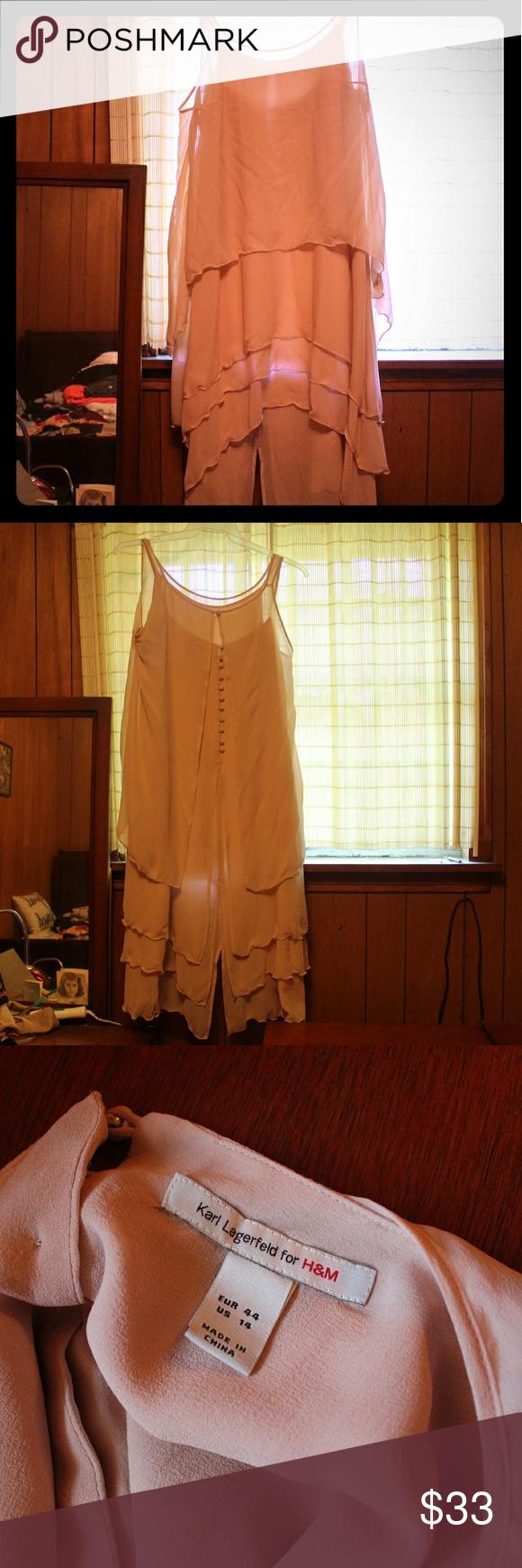 H&m dusty pink dress  HuMLagerfeld Dress Size  Dusty Pink  Dusty pink