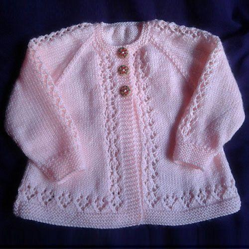 patrones de punto gratuitos para bebés cardigans ropa de bebé de punto doble de punto · rebeca de bebé de belleza - patrón libre IFCAUQR ... - Crochet and Knit