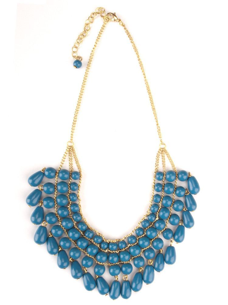 Malabar Beaded Necklace - Blue