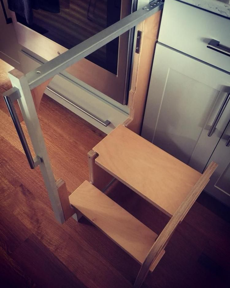 David Dangerous Step Stool Kitchen Step Stool Wood Step Stool