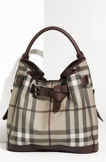 82fe5d8b8b62 Burberry Belted Check Print Hobo available at Nordstrom