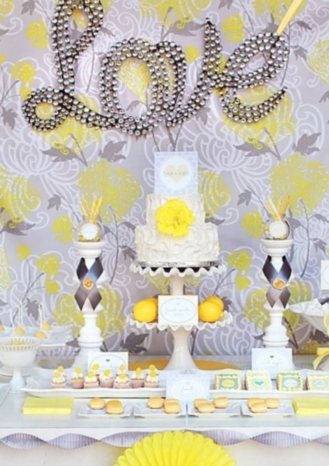 70 Grey And Yellow Wedding Ideas For Spring And Summer Weddings ...