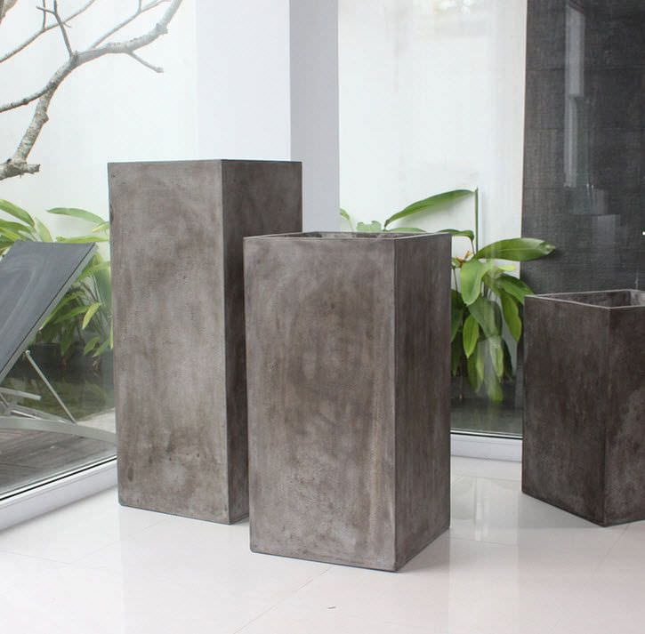 contemporary vase concrete suno planter saveri