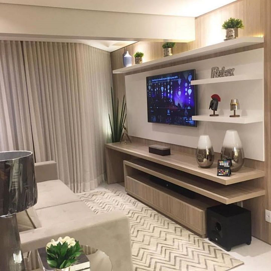 35 Amazing Wall TV Cabinet Designs for Cozy Family Room images