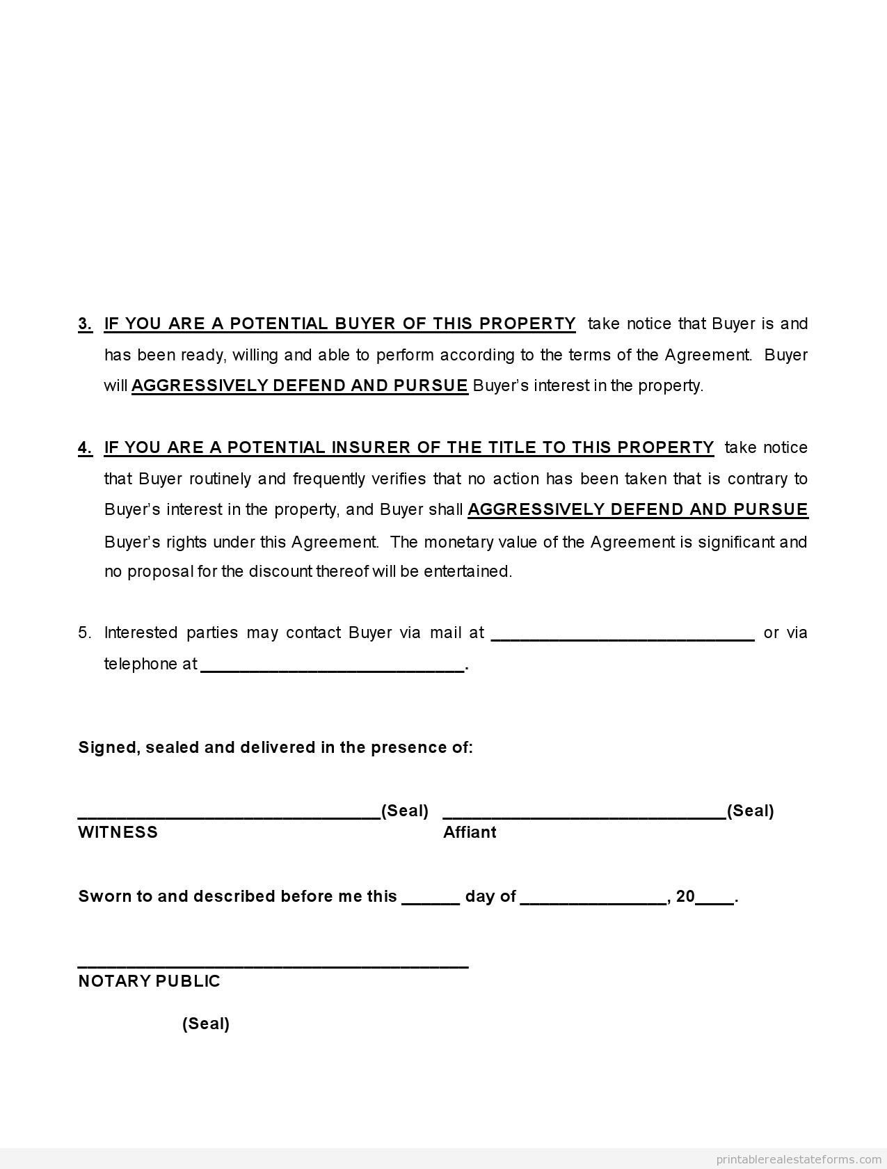 Sample Printable Affidavit Of Equitable Interest Form  Printable