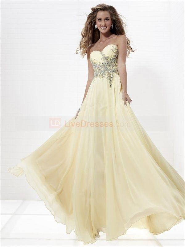 7550a5de581 2012 Style A-line Sweetheart Rhinestone Sleeveless Floor-length Chiffon  Prom Dresses   Evening Dresses (SZ0247463 )