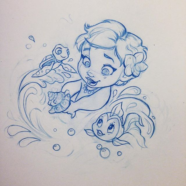 """Disney Drawings: """"I Will Carry You Here In My Heart/You'll Remind Me/That"""