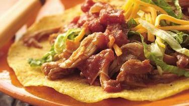 Slow-Cooker Mexican Chicken Tostadas