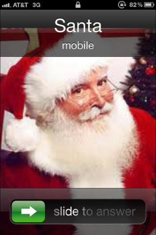 Save Santa S Pic Into Phone For When Kids Need A Good Bad Phone Call Christmas Crafts Kids Santa