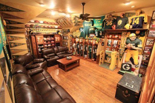 Photo of Green Bay Packers Manneshöhle #Kreationsraum #Kreationsraum #Möbel, #B …