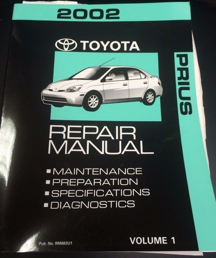 2002 toyota prius factory original repair manual volume 1 only rh pinterest com 2010 Prius Manual Online 2010 Prius Manual Online