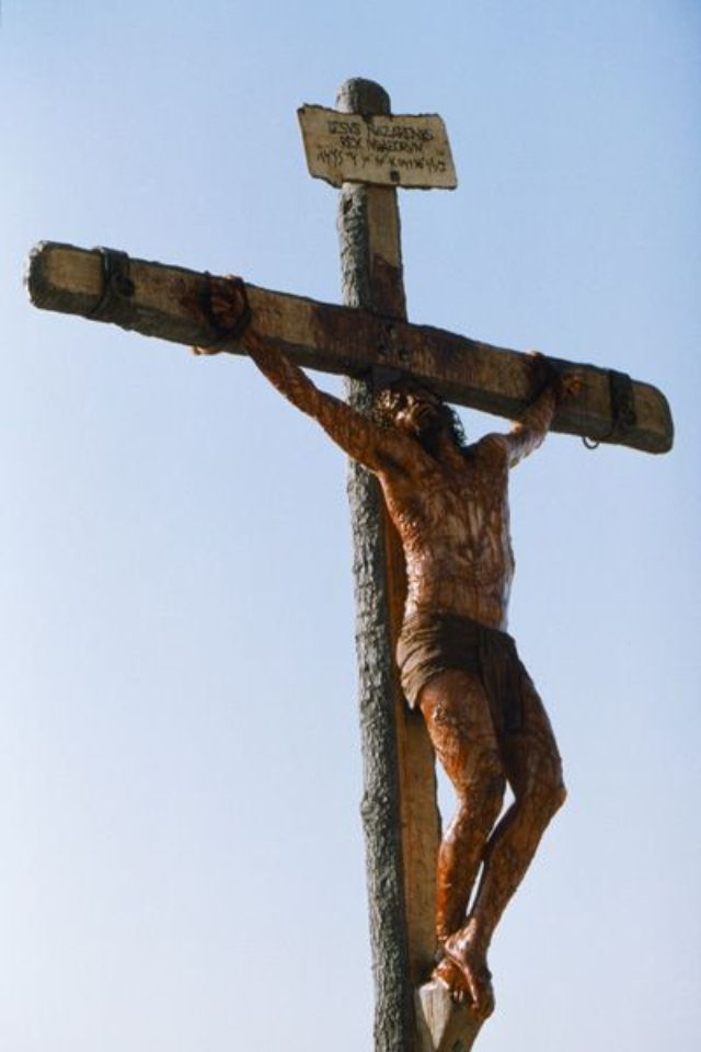 Jesus on the cross  I'm so glad he died for our sins   I