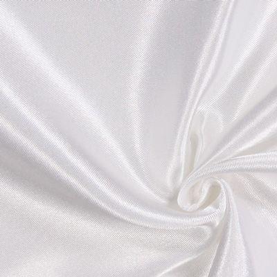 Polyestersatin 26 - Polyester - hvid