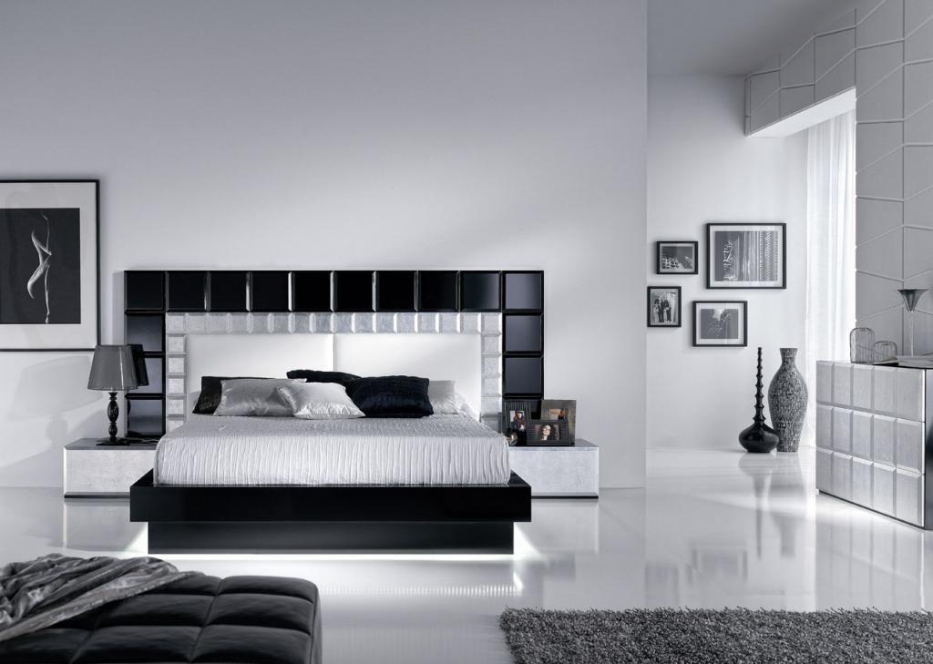 Decoraci n estilo moderno decoraci n dormitorios de for Dormitorio matrimonio negro
