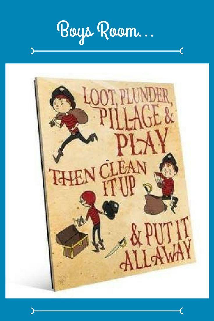 Loot, Plunder, Play Wall Art #affiliate #piratetheme #boysroom ...