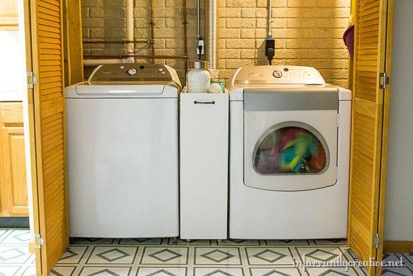 Diy Slim Rolling Laundry Cart Free
