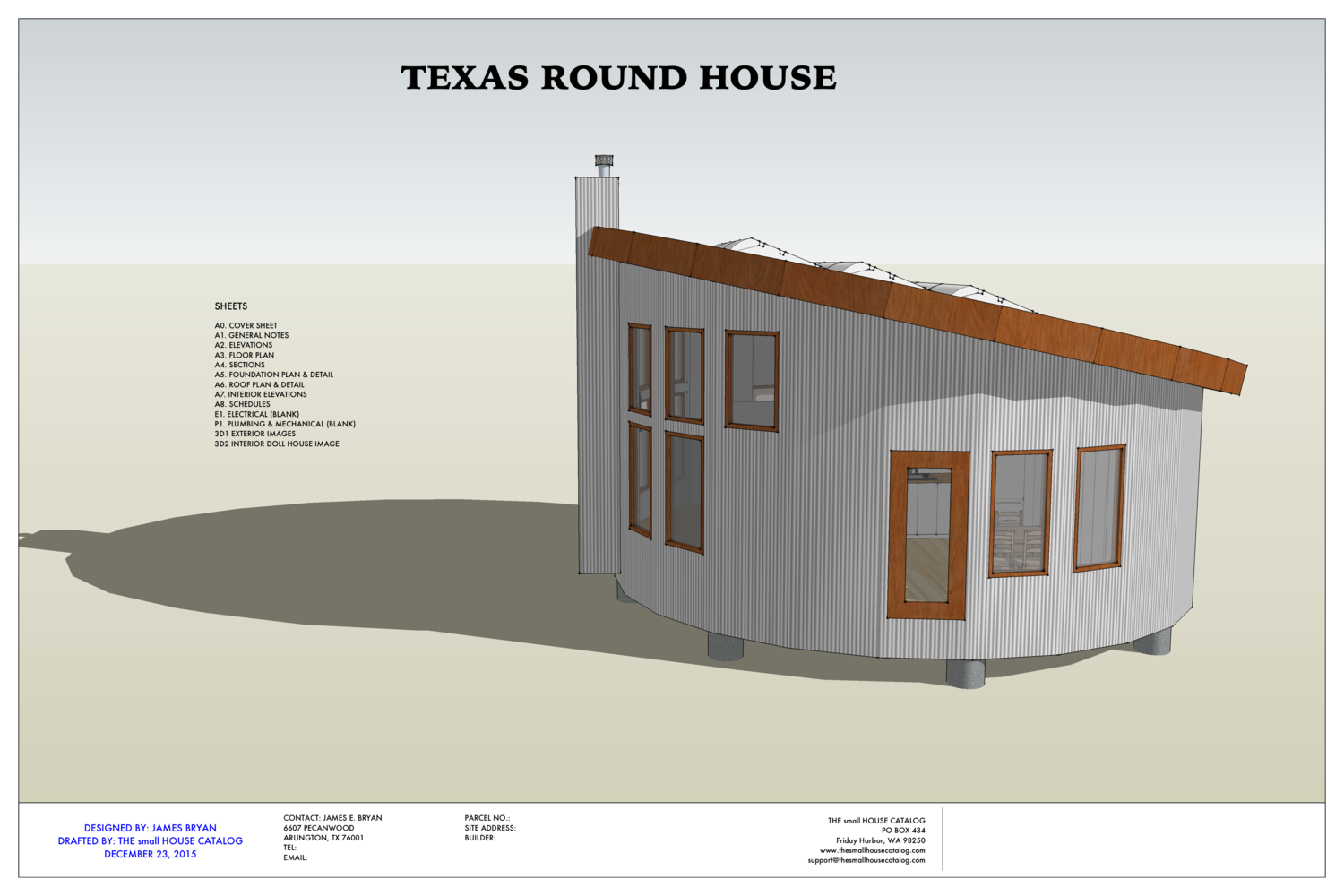 1 Story 1 Bedroom 1 Bath Round House Plan This Is A Free Pdf Building Plan Download Post Pier Foundati Round House Plans Diy Tiny House Plans Round House