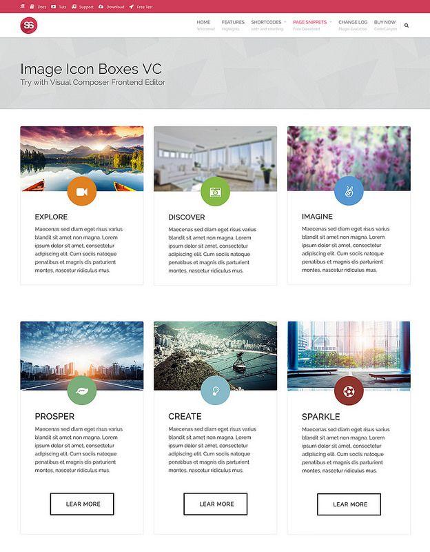 Free Template - Image Icon Boxes Visual Composer Template Supreme