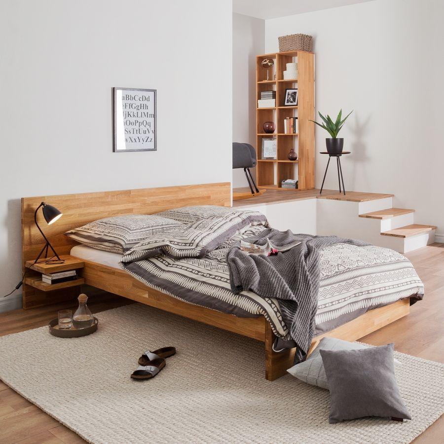 Massivholzbettgestell TessaWood Haus deko, Bett