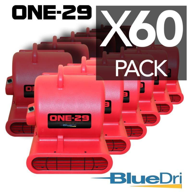 60 Pack Bluedri One 29 Air Mover Carpet Floor Blower Fan For Water Damage Red Gfci Blower Fans The Unit
