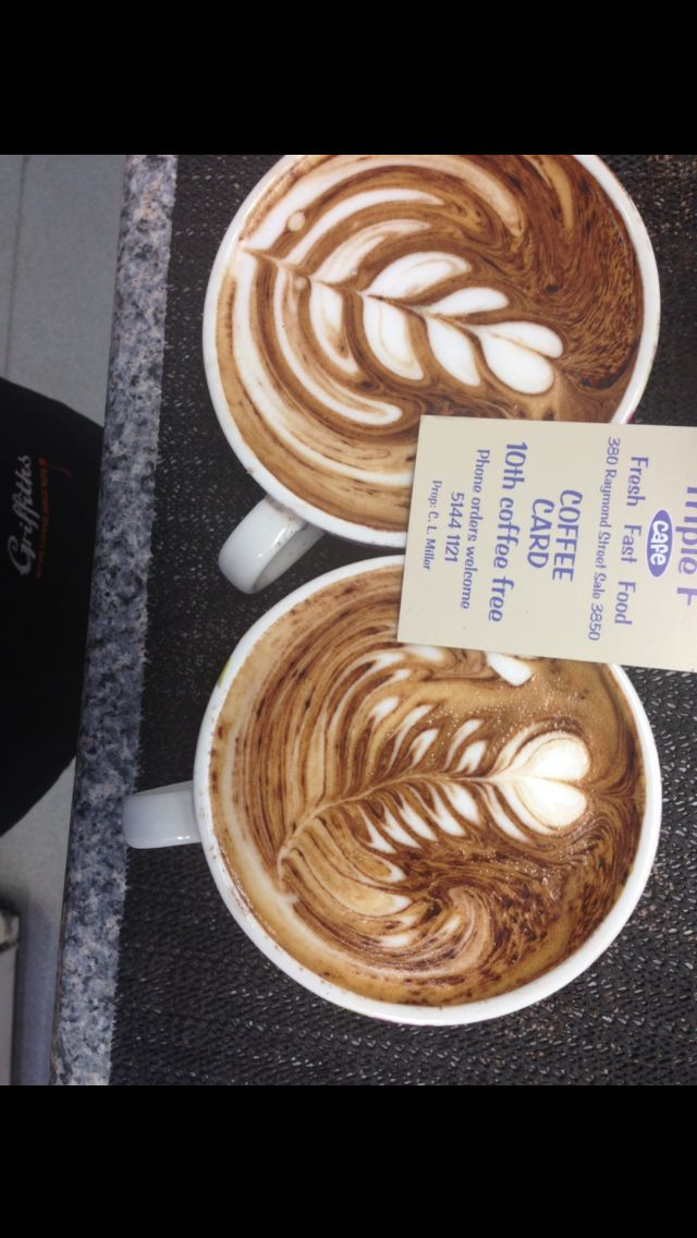 A couple of free pour coffees. Old pic skills have definitely improved since.