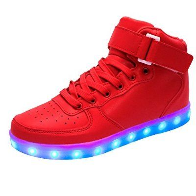 iisport Kids LED Shoes Boy Girl 7 Colors LED Light up Sneakers High Top  Shoes USB Charging: Amazon.co.uk: Sports & Outdoors