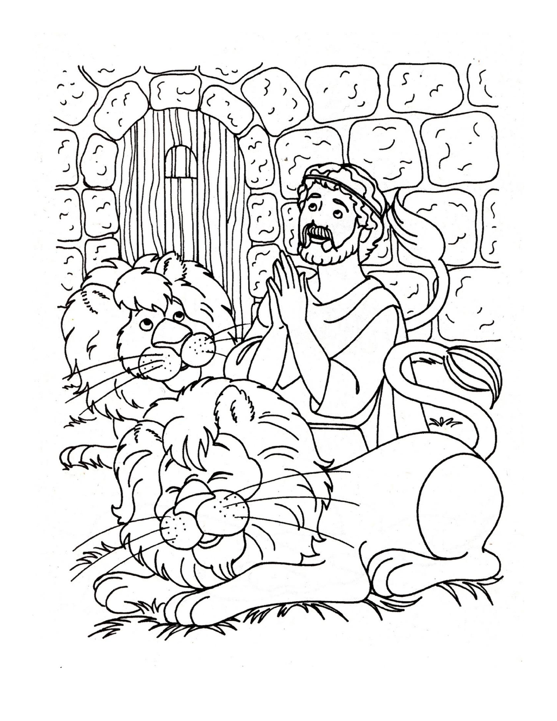Free printable coloring pages of daniel in the lions den - Daniel And The Lions Den Crafts And Activities For Kids