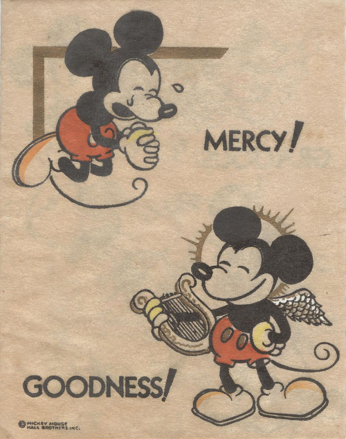 5 C 77: Mickey Mouse cheer card