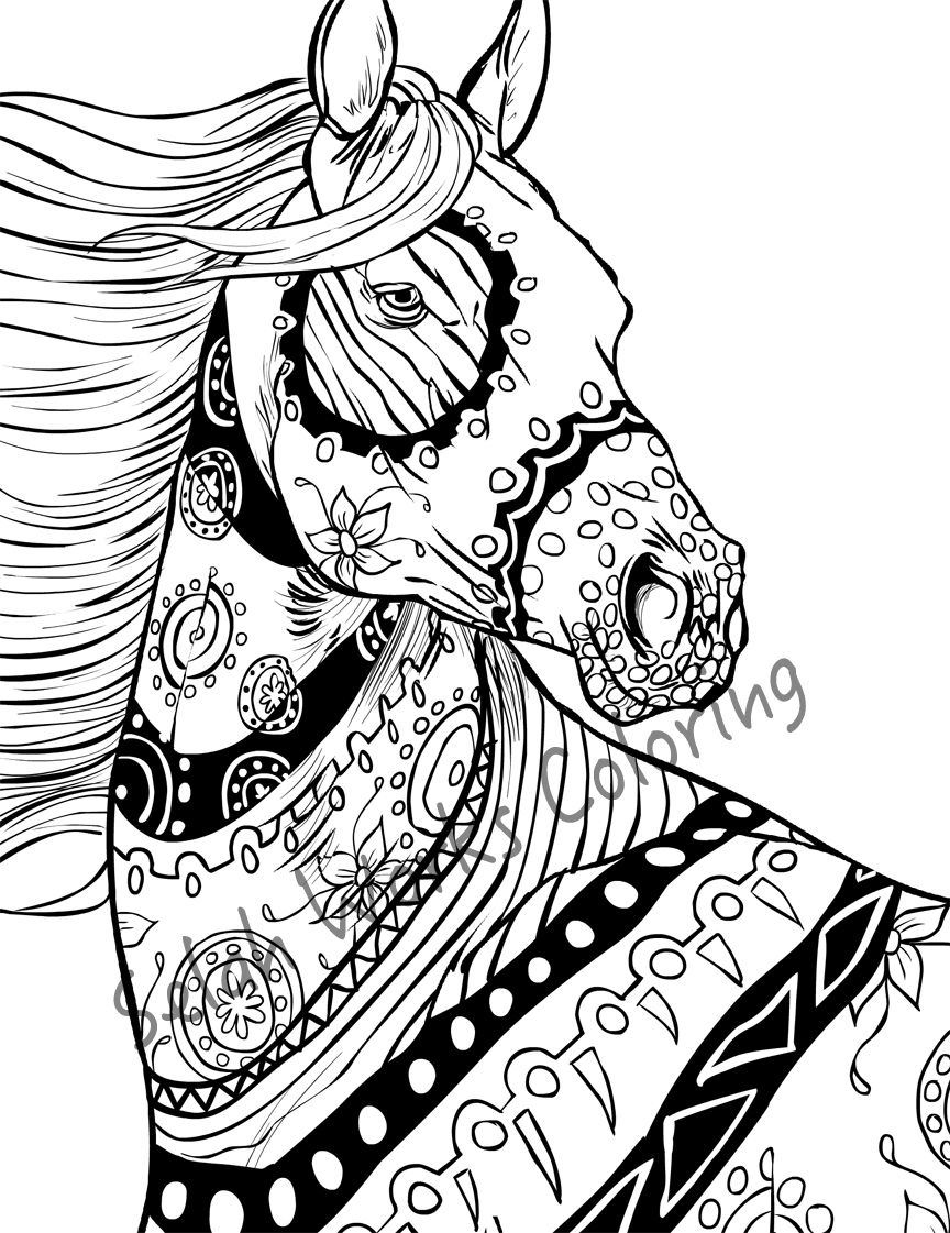 Heres A Sneak Peak Into Some WIP For New Horses Coming In The Horse Coloring Book More Images Soon Too Busy