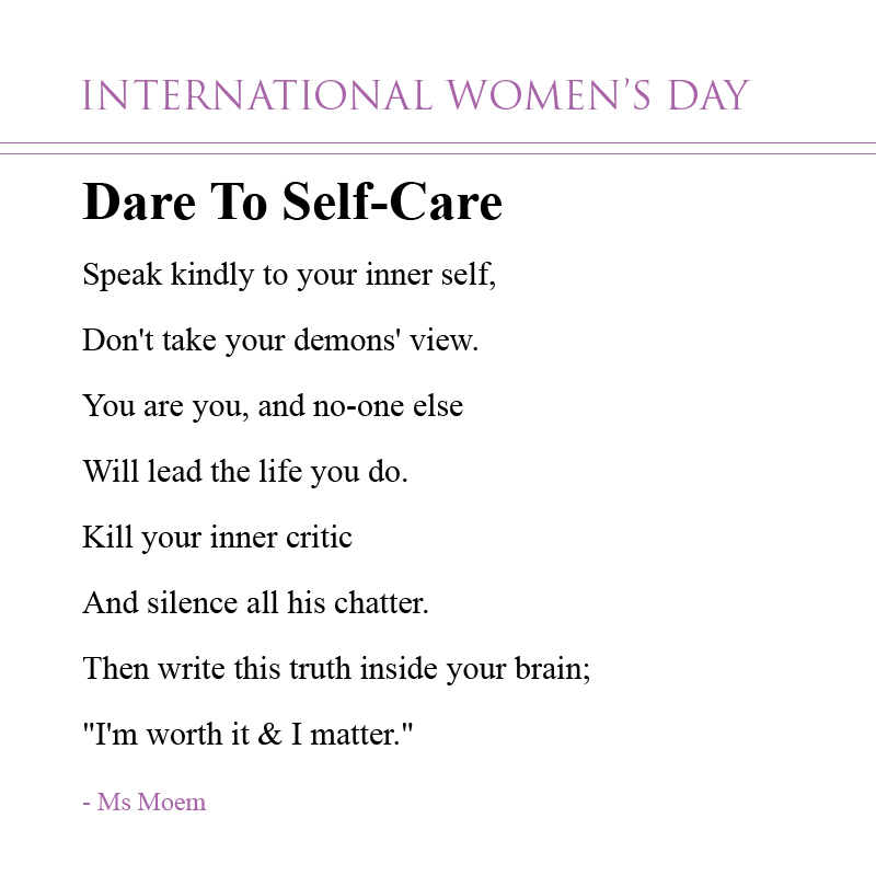 Confidence Quotes That Rhyme: International Women's Day Poems