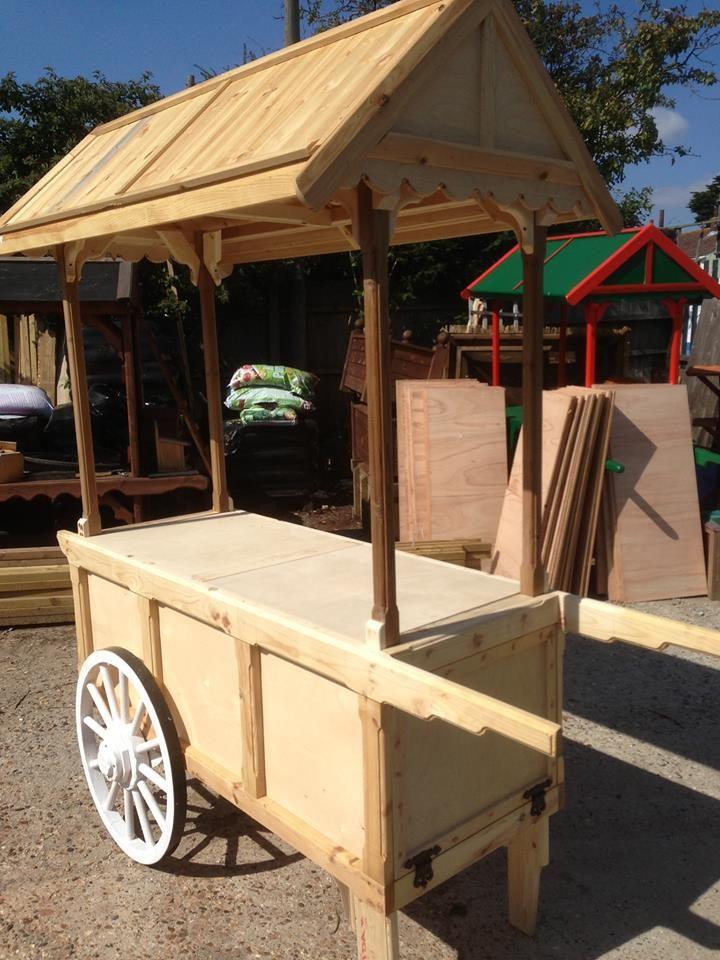 woodencandycart Flower Cart in 2019 Wooden cart