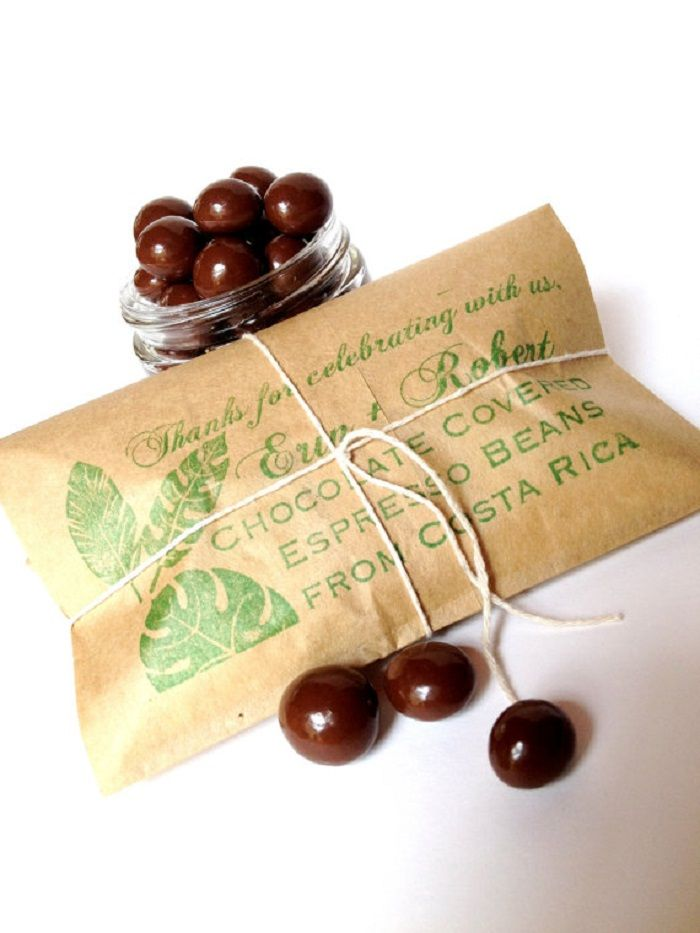 Best Coffee-themed Wedding Favours - Chocolate-covered espresso beans | itakeyou.co.uk #wedding #weddingfavors #favors #weddingfavors #coffeefavors