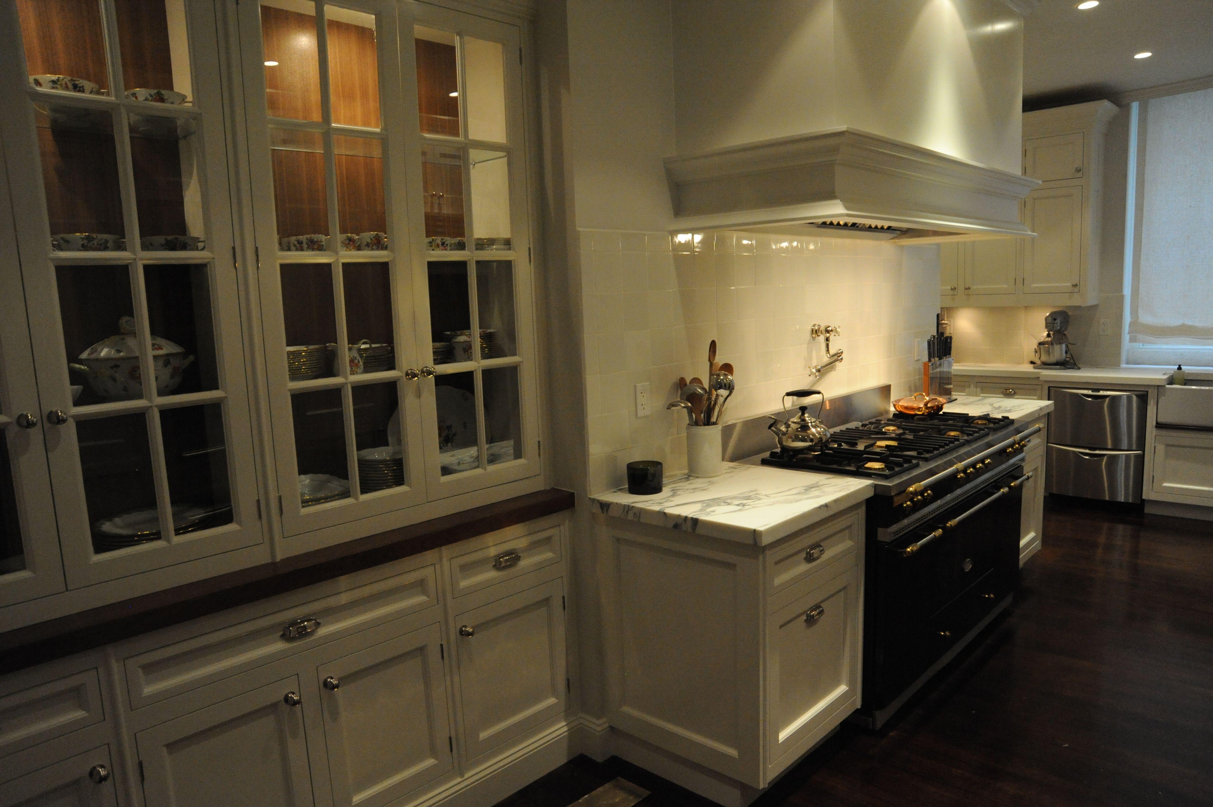 Black Lacanche White Kitchen. Interior Design And