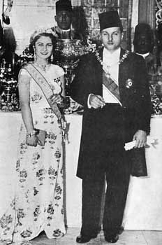 King Farouk I and Queen Farida