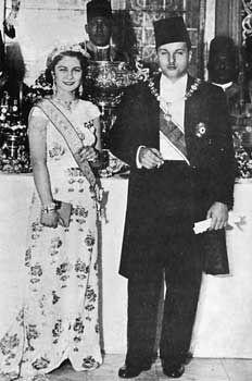 King Farouk I and Queen Farida