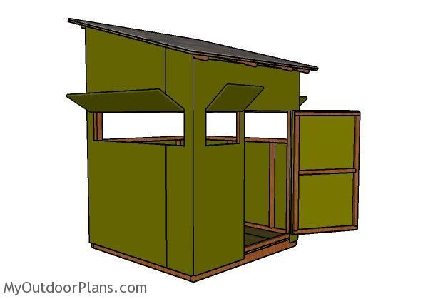 5x5 Shooting House Plans Myoutdoorplans Free Woodworking Plans And Projects Diy Shed Wooden Playhouse Pergola Deer Blind Plans Shooting House Deer Blind