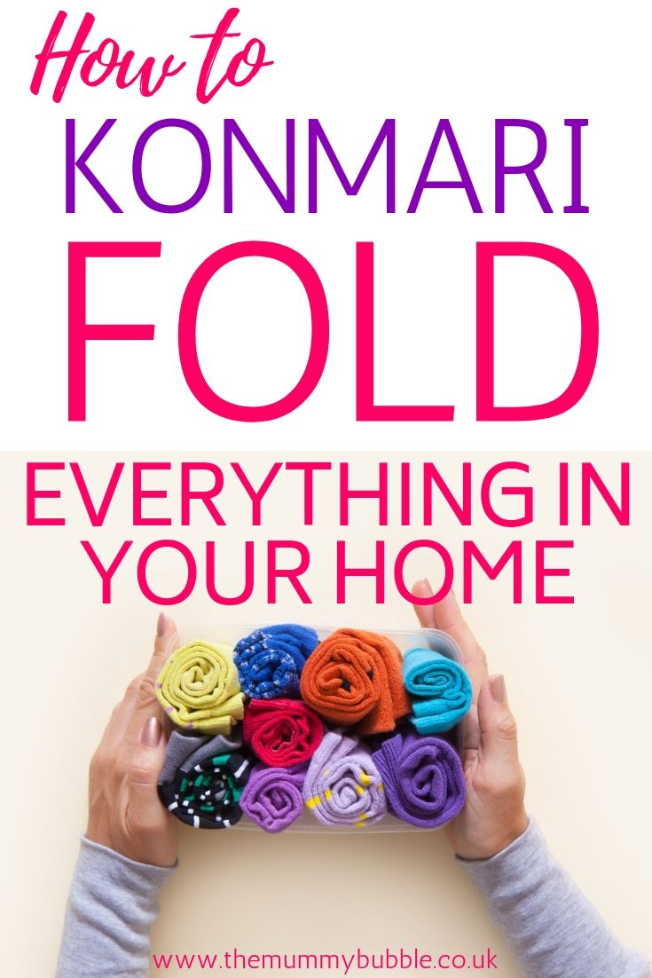 Photo of KonMari fold everything in your home