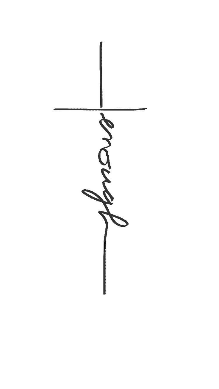 i am enough, christ is enough tattoo cross biblical christian