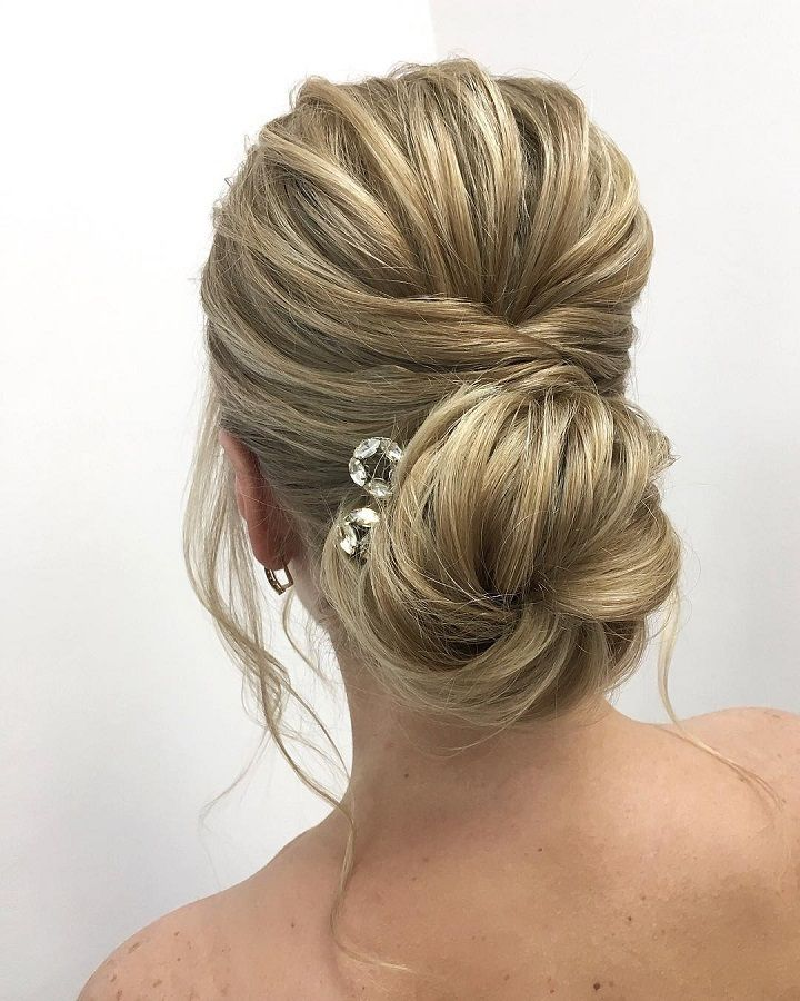 Romantic Wedding Hairstyles To Inspire You Elegant Updo Bridal - Wedding hairstyle upstyle