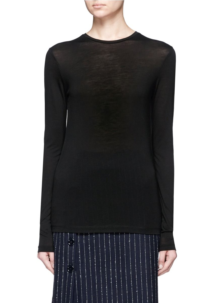 ACNE STUDIOS 'Marisol Tencel' jersey long sleeve T-shirt. #acnestudios #cloth #t-shirt