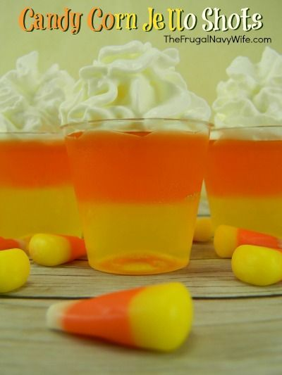 candy corn jello shots halloween drinks - Great Halloween Drinks