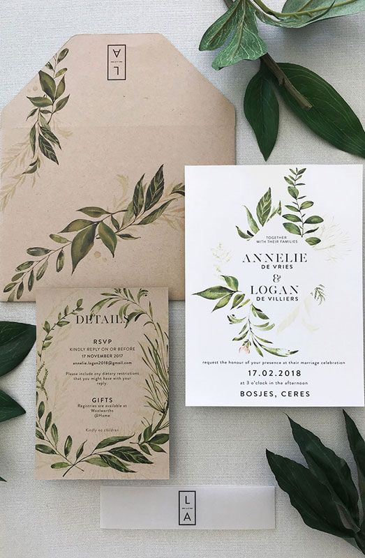 Forest wedding theme stationery #weddinginvitations explore Pinterest