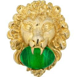 Photo of Lion head ring with cabochon stone GucciGucci
