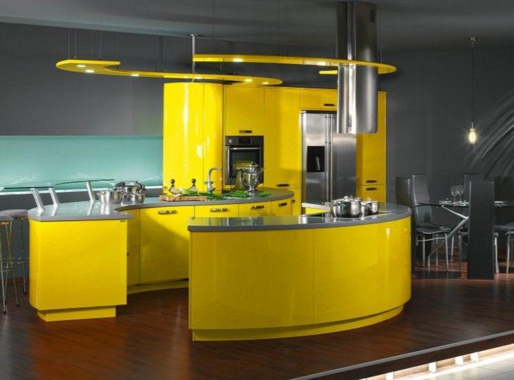 Moderne Kücheninsel mit schwarzen Fliesen,schöne Küche Design - alternative zu fliesen in der küche