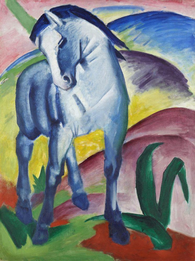 Franz Marc Le Cheval Bleu 1 1911 En 1912 Franz Marc Et Vassily Kandinsky Publient Un Almanach Intitule Der Blaue Rei Franz Marc Free Art Prints Blue Horse