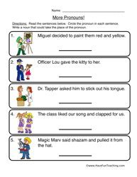 Pleasant Free Worksheets for Grade 1 English Grammar for Your ...