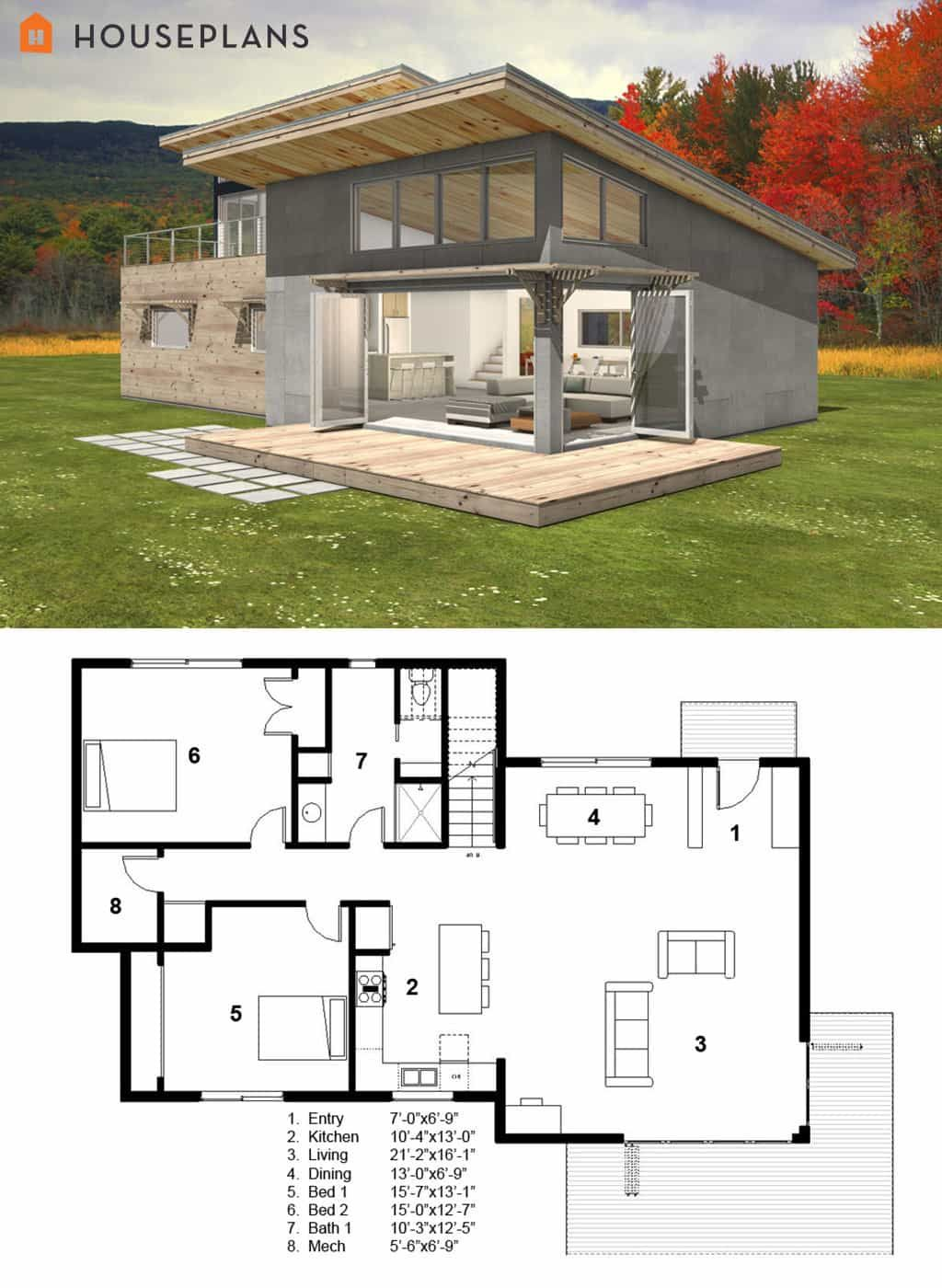 7 Modern House Plans Samples Modern Home 7 Mrn House Plans Samples Mrn Home Mrn House Plans Fea In 2020 Modern Style House Plans Small Modern Cabin Cabin House Plans