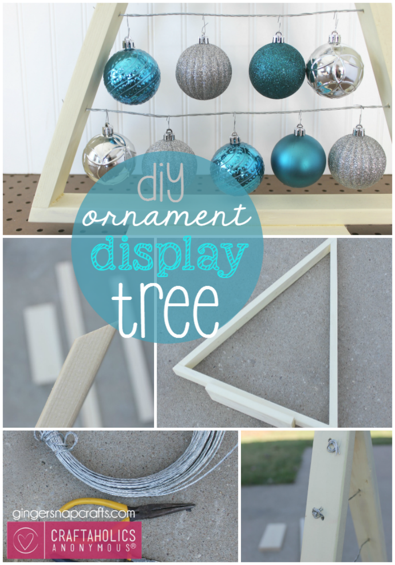 DIY Ornament Display Tree Tutorial Craftaholics